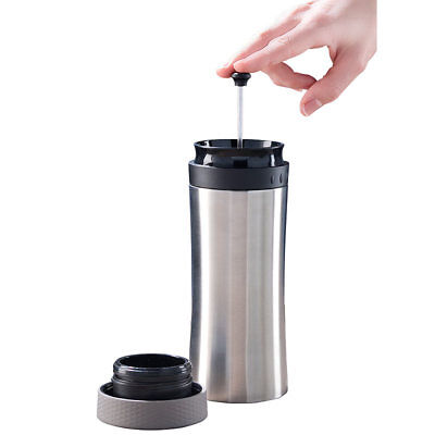 2in1-Edelstahl-Thermobecher mit French-Press-System, 0,48 l, BPA-frei