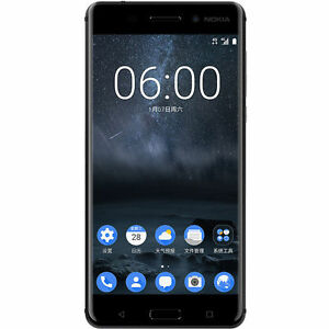 New Nokia 6 Black 32GB/4GB RAM Dual SIM Android 7.0 Unlocked 4G Smartphone