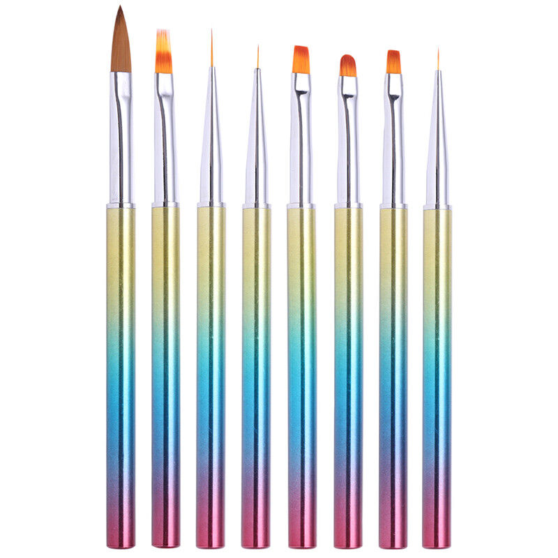 Nagel Bürste Liner UV Gel Acrylic Painting Pen Gradient Handle Nail Werkzeug