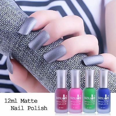 12ml Nagellack Polish Matt 3D Zucker Effekt Lack Nail Art Design Gelgellack