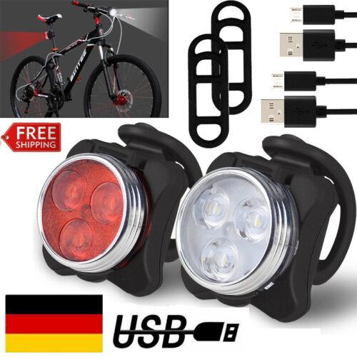 USB Wiederaufladbare LED Fahrrad Beleuchtung Frontlicht, Rücklicht Fahrradlicht