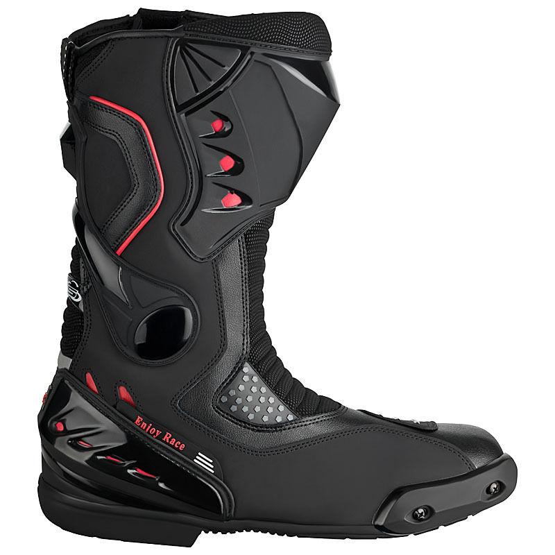 Motorradstiefel hochwertige XLS Racing Boots Touringstiefel schwarz Gr. 42 - 46