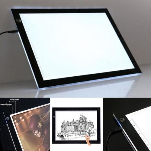 A2/A3/A4 LED Grafiktablett Touchpad Animation Bleistift Skizze Lightbox Neu