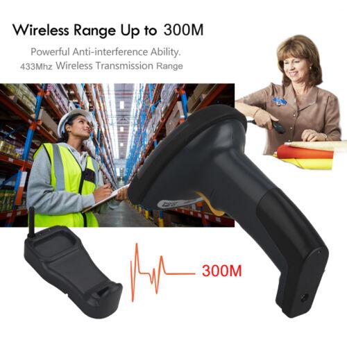 Drahtloser kabelloser tragbarer Barcode-Laser-Scanner-Leser mit Ladestation