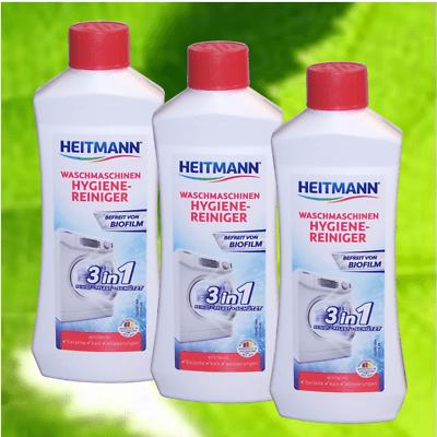 (9,93 €/L) Heitmann Waschmaschinen-Reiniger Pfleger Entkalker 3x 250ml #1