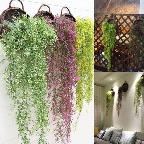 Kunstpflanzen Künstliche Blätter Efeu Hängend Pflanzen Garten Wanddekor 4 Farben