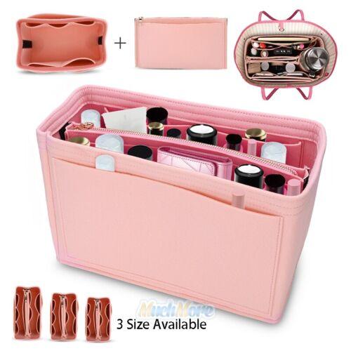 Felt Purse Handbag Organizer Insert - Multi pocket Storage Tote Shaper Liner Bag