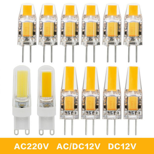 12x 10x G4 G9 LED COB 3W 6W 9W Reflektor Lampe Birne Leuchtmittel Warmweiß Licht