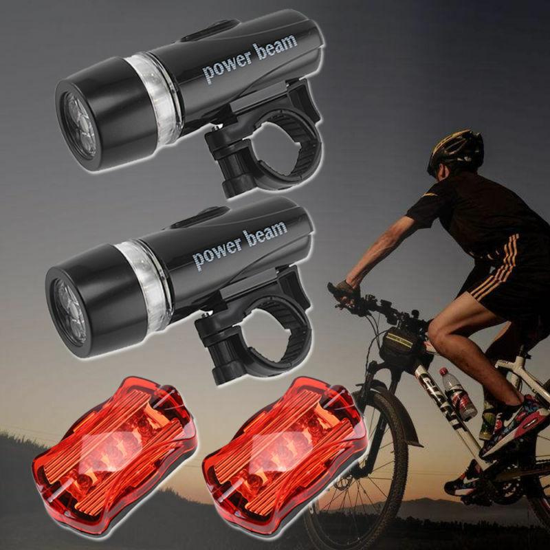 2x 5LED Fahrradbeleuchtung Set Fahrrad Licht Fahrad Scheinwerfer Fahrradlampe DE