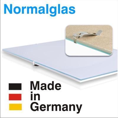 Bilderhalter rahmenlos mit Normalglas N-Clip