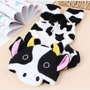 Dogs Clothes Dairy Cow Pets Costume For Cats Puppy Hoodie Winter Warm Coat
