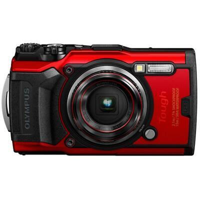 Olympus Tough TG-6 12MP Waterproof W-Fi Digital Camera (Red)