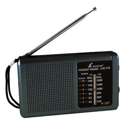 Tragbarer Mini Radio Taschenradio Reiseradio Mobil FM/AM K-257 - Schwarz