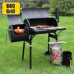 45'' Outdoor BBQ Charcoal Grill Smoker Barbecue Pit Patio Backyard Meat Cooker