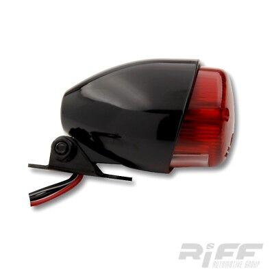 Sparto Mini Rücklicht Texas schwarz rotes Glas Harley Custom Bike Chopper Bopper