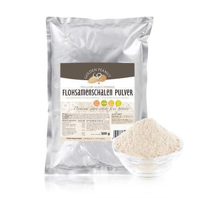 Flohsamenschalen Pulver indisch feinst gemahlen 60 mesh 99% Reinheit 500 g