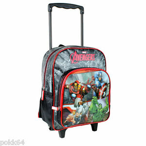 the avengers trolley a roulettes marvel team m sac a dos 33 cm maternelle 760350 ebay