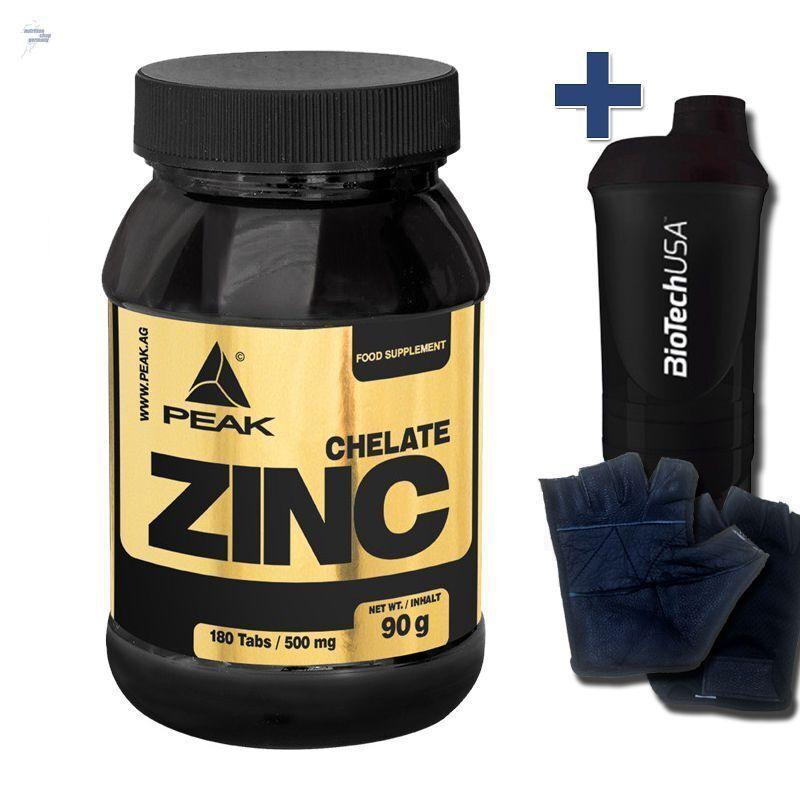 Peak Zink Chelat 2 x 180 Tabletten a. 500mg zinc Tabs Professional + Kupfer