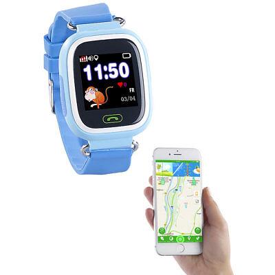 TrackerID Kinder-Smartwatch, Telefon, GPS-, GSM-, WiFi-Tracking, SOS-Taste, blau