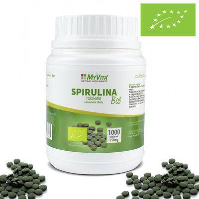 Bio Spirulina 1000 Tabletten Bio–Naturland-Zertifizierung EU-Bio-Logo