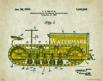 john deere tractor patent poster art