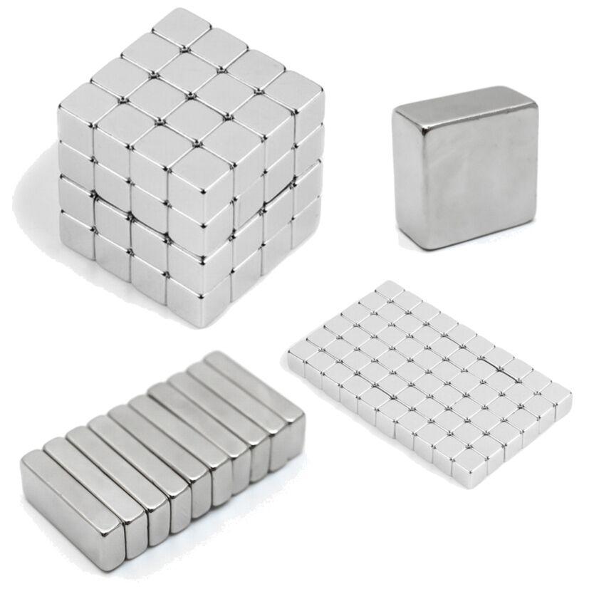 Neodym Magnete super stark Quader Würfel N35 N45 N50 doppelt vernickelt