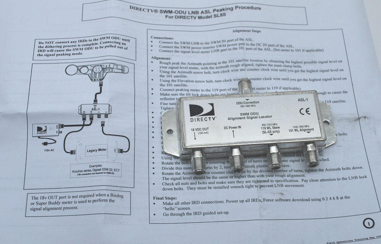 DIRECTV ASL-1 SWM Alignment Signal Locator Tool For