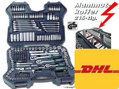 Mannesmann M98430 Steckschlüsselsatz PROFI Nusskasten 98430 Werkzeugkoffer 215tg