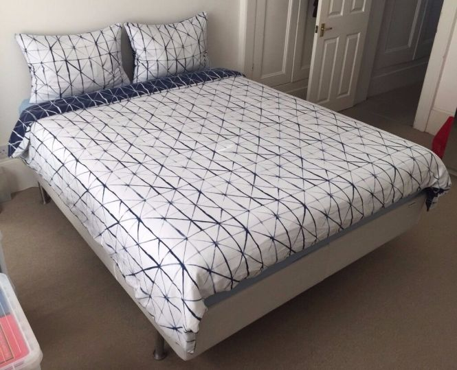 Ikea Sultan King Size Bed Deep Mattress Excellent Condition