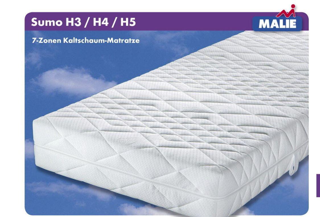 Matratze Malie Sumo Kaltschaum XXL v. Gr. H2 / H3 / H4 / H5
