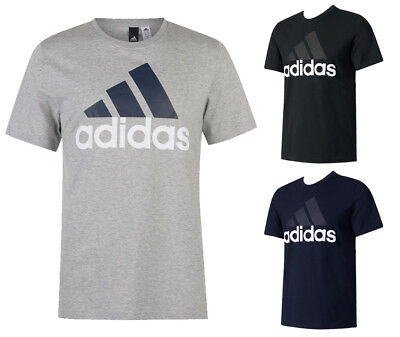 Adidas Men's Short Sleeve Essential Logo Graphic Crew Neck T-Shirt