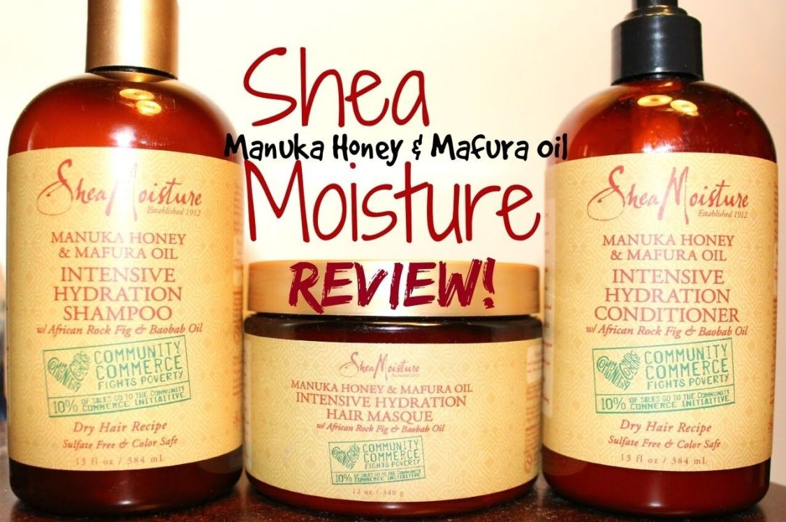 Shea Moisture Manuka Honig & Mafura Öl Shampoo, HAARSPÜLUNG & Maske (