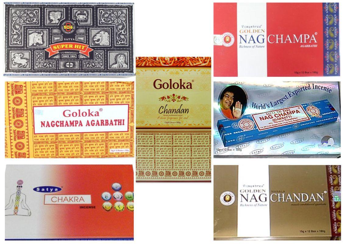 Räucherstäbchen SATYA GOLOKA GOLDEN Bigpack 12 Boxen x 15g Nag Champa Superhit