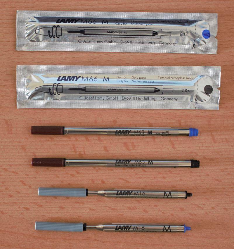 Lamy Minen M16,M22, M63, M66 blau oder schwarz für Kugelschreiber & Tintenroller