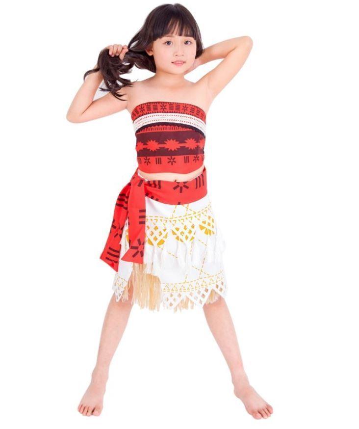 Official Moana Girls Kids Fancy Dress Disney Princess Hawaiian Book Day Costume