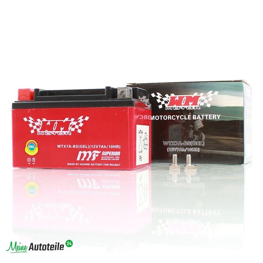 GEL Motorrad ATV Roller Quad Batterie YTX7A-BS WTX7A-BS 7Ah 12V
