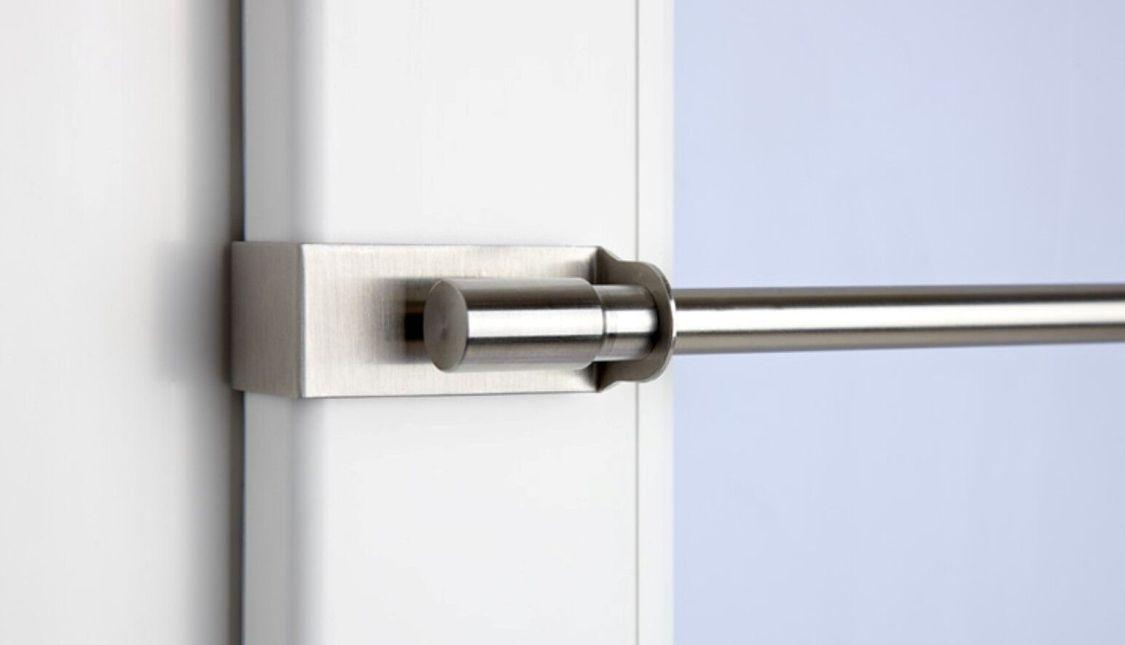 CG Klemmstange easy fix Klemmfix Gardinenstange ausziebar weiß edelstahl optik
