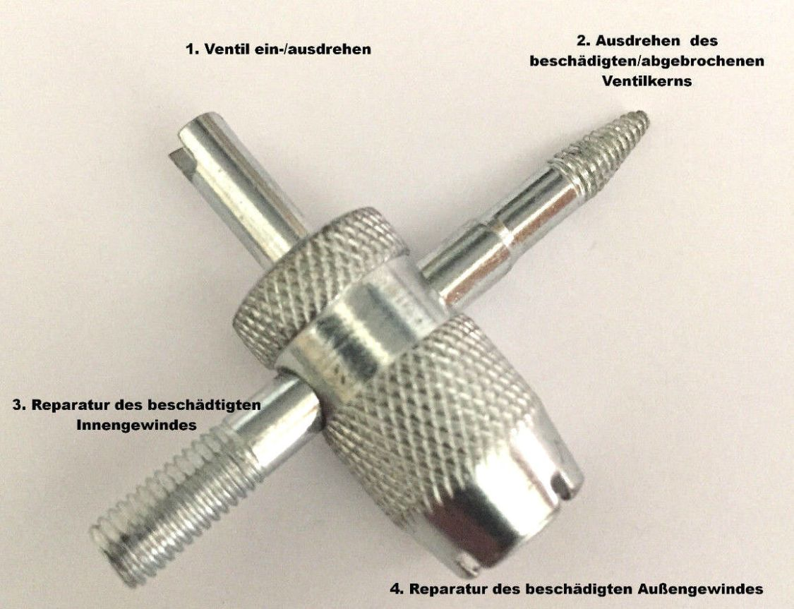 Reifenventil Reparaturwerkzeug Nachschneider und Ventil-ausdreher ventilwerkzeug