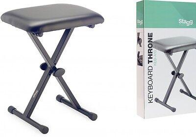 Keyboardbank mit X-Form, einklappbare Beine Stuhl Sitz
