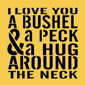 Download ITEM-6474-U-Primitive-Stencil-I-Love-You-a-Bushel-A-Peck
