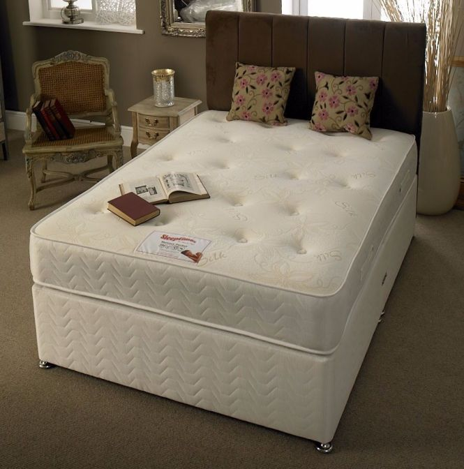 Brand New Double Divan Bed Base With Semi Orthopaedic Mattress Available In Other Sizes