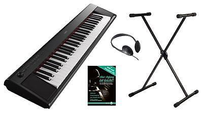 YAMAHA NP-12 PORTABLE STAGE PIANO E-PIANO KLAVIER SCHULE STATIV KOPFHÖRER BLACK
