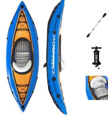 Bestway Hydro-Force Cove Champion Inflatable Kayak Set W/ Paddle + Pump NIB