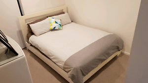 Queen Bed Frame And Mattress White