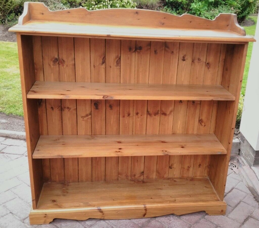 Solid Pine Victorian Style Country Rustic Traditional Low Wide Bookcase Or Display Shelving Unit In Poynton Manchester Gumtree