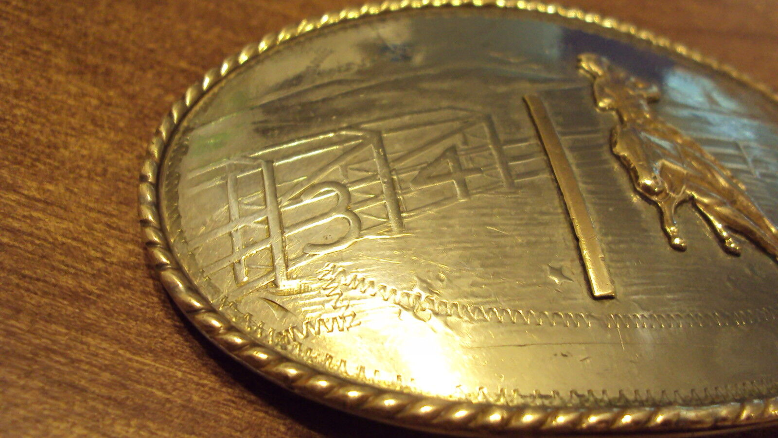Silver Belt Comstock Rodeo German Horse Silversmiths