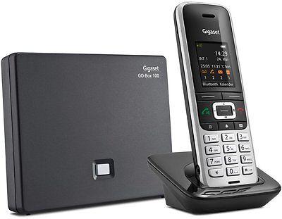 Gigaset S850A GO platin/schwarz Schnurlostelefon mit Anrufbeantworter