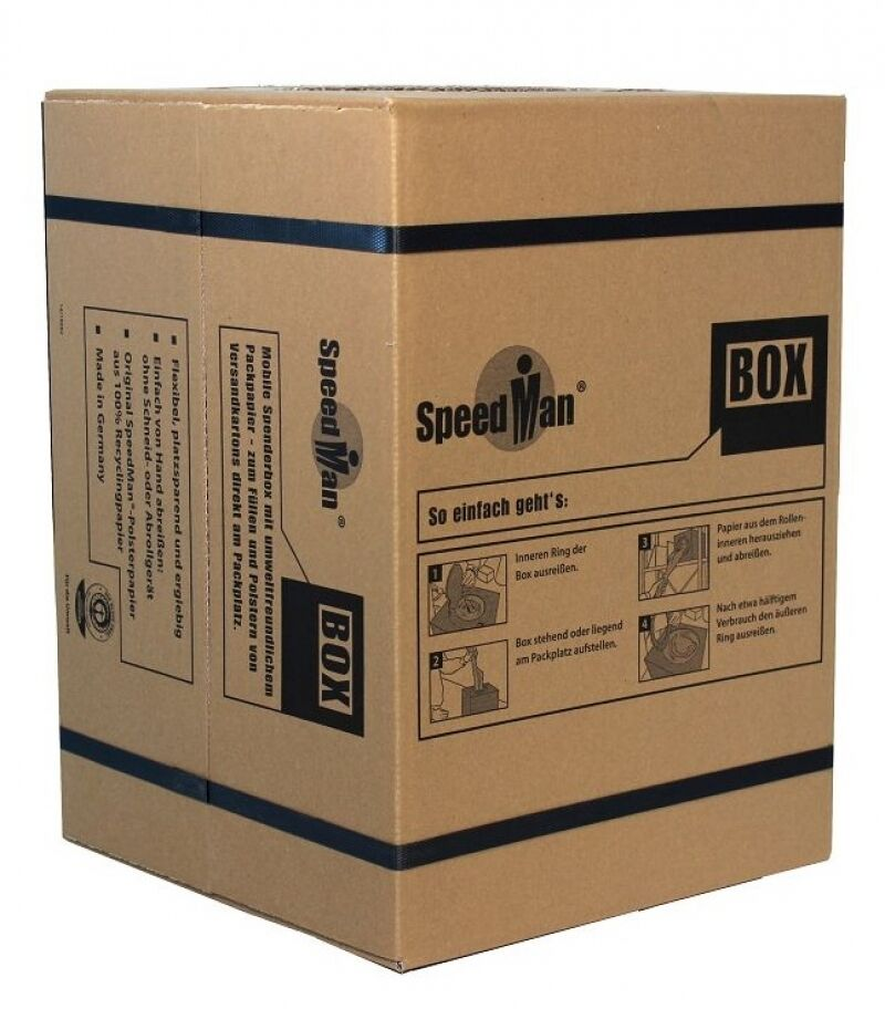 1 SpeedMan Box 450 m endlos Packpapier Schrenzpapier Stopfpapier Füllmaterial