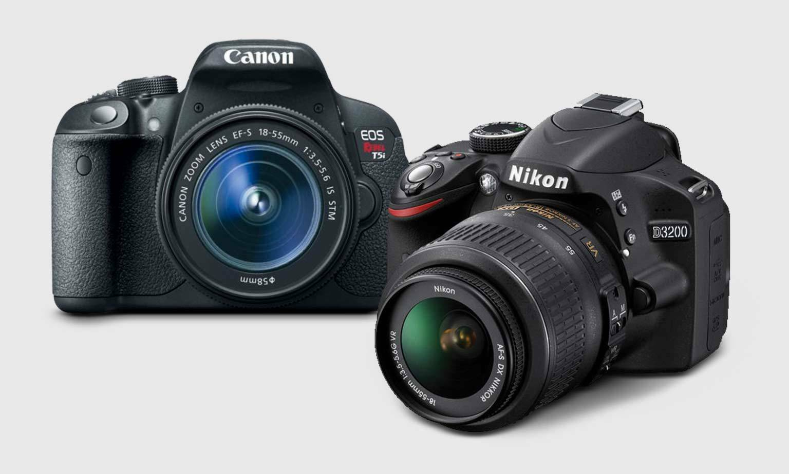 Up to 40% Off on Canon and Nikon DSLRs