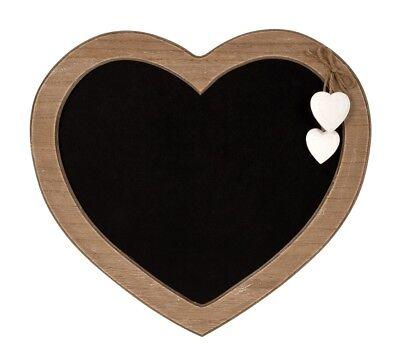 Memotafel Herz Tafel 30 x 27 cm Küchentafel mit 2 Herzen Wanddekoration